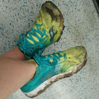 I did not expect to get muddy shoes running in Islington!!