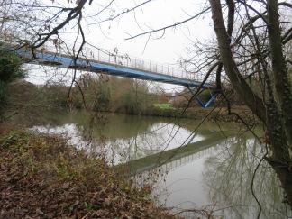 The bridge to Whatman Park