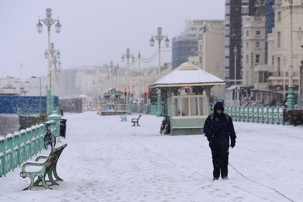 Snow in Brighton