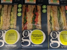 Sainsbury's had three different vegan sandwiches, and not a courgette in sight!