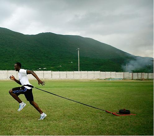 Usain-Bolt-Training